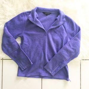 Sweaters - Purple Quarter Zip Fleece Sweater